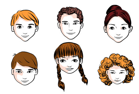 teenagers only: heads Illustration