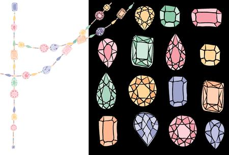 sapphire gemstone: diamonds