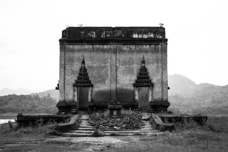 workship: Under water temple in Kanchanaburi