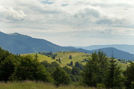 morskie: wonderful carpathian hills Stock Photo