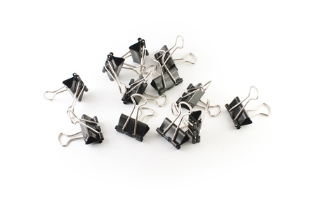 many binder clips photo