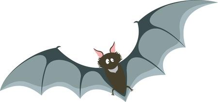 Cartoon bat on white background Vector