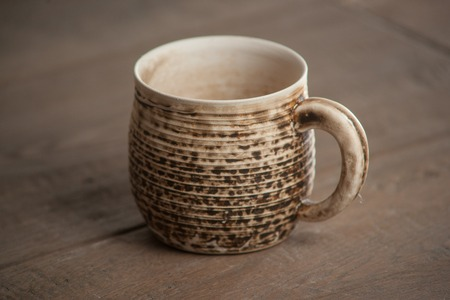 Traditional handcrafted mug - perfect for tea, coffee or beer photo