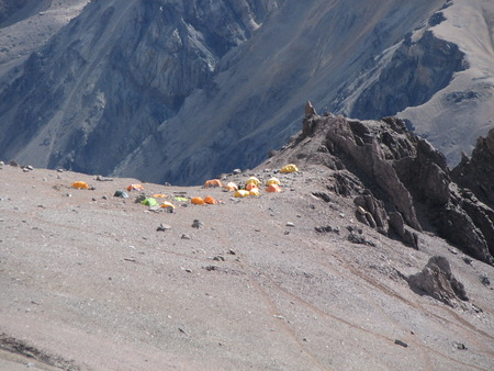 Tents in the camp, Andes, Argentina, South America photo