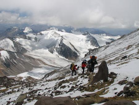 aconcagua: Road in mountain to Aconcagua, Argentina, South America