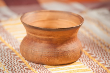 handcrafted: Traditional handcrafted bowl - perfect for tea or coffee Stock Photo