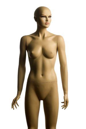 naked statue: Female body manequin on white background