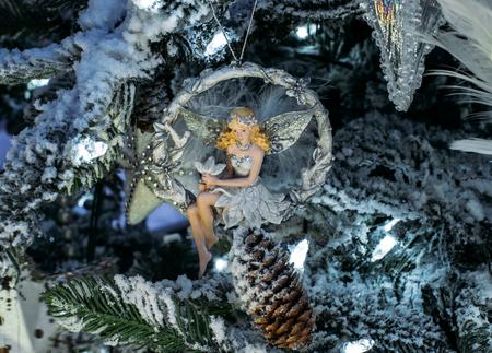 angel tree: Angel, Christmas tree decorations Stock Photo
