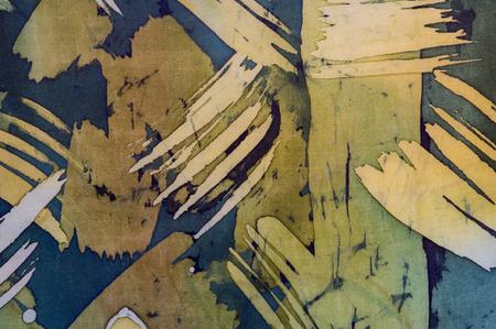 surrealism: Abstract brushstrokes, fragment, hot batik, background texture, handmade on silk,  surrealism art
