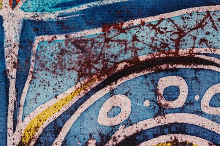 surrealism: Abstraction, hot batik, background texture, handmade on silk, surrealism art