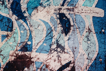 Waves and arrows, hot batik, background texture, handmade on silk, abstract surrealism art