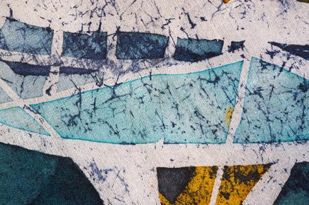 surrealism: Abstraction, hot batik background texture, handmade on silk, abstract surrealism art