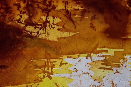 craquelure: Evening sky fragment, hot batik background texture, handmade on silk, abstract surrealism art