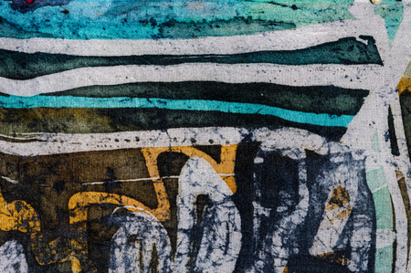 surrealism: Lines, hot batik background texture, handmade on silk, abstract surrealism art