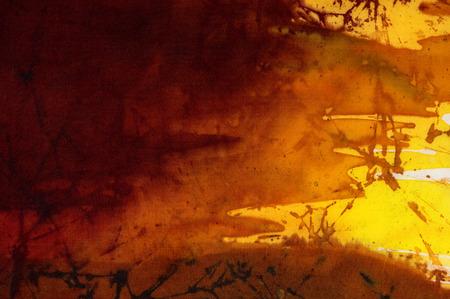 evening sky: Evening sky, fragment, hot batik, background texture, handmade on silk, abstract surrealism art