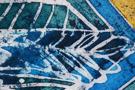 surrealism: Abstraction, hot batik, background texture, handmade on silk, abstract surrealism art Stock Photo