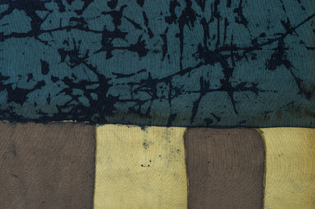 craquelure: Abstraction, fragment, hot batik, background texture, handmade on silk, abstract surrealism art Stock Photo