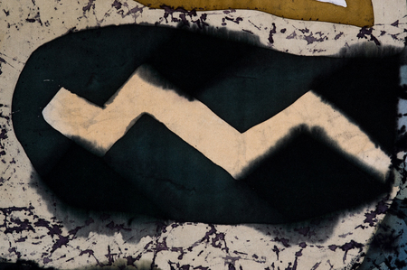 crankle: Zigzag, fragment, hot batik, background texture, handmade on silk, abstract surrealism art