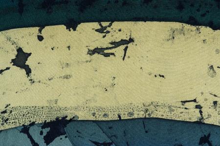 fragment: Horizontal stripes,fragment, hot batik, background texture, handmade on silk, abstract surrealism art Stock Photo