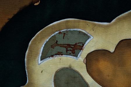 surrealism: Ornament, fragment, hot batik, background texture, handmade on silk, abstract surrealism art
