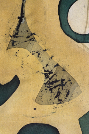 square detail: Ornament, fragment, hot batik, background texture, handmade on silk, abstract surrealism art