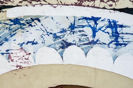 surrealism: Abstraction, fragment, hot batik, background texture, handmade on silk, abstract surrealism art Stock Photo