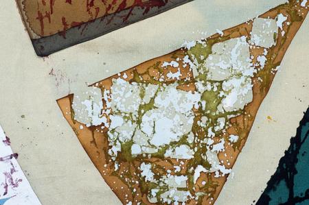 fragment: Sector, fragment, hot batik, background texture, handmade on silk, abstract surrealism art