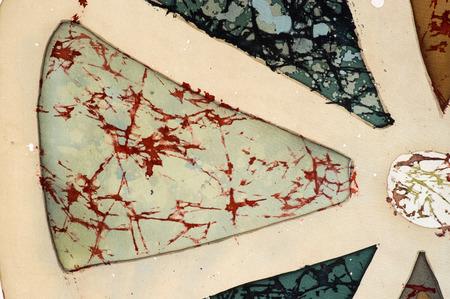 craquelure: Sector, fragment, hot batik, background texture, handmade on silk, abstract surrealism art