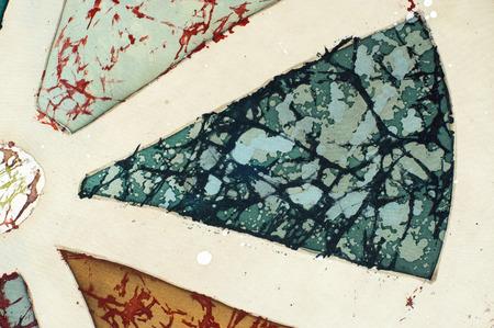 craquelure: Wheel, fragment, hot batik, background texture, handmade on silk, abstract surrealism art
