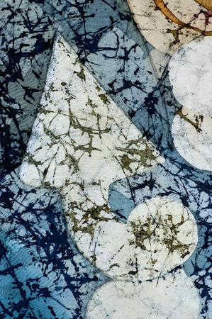 fragment: Arrow up, fragment, hot batik, background texture, handmade on silk, abstract surrealism art Stock Photo