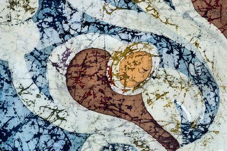 fragment: Ornament, fragment, hot batik, background texture, handmade on silk, abstract surrealism art