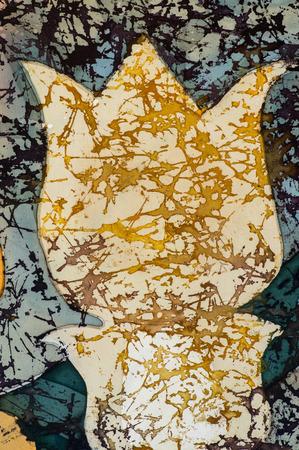 fragment: Tulip, fragment, hot batik, background texture, handmade on silk, abstract surrealism art