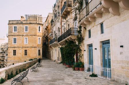 Urban view in the center of Senglea, L-Isla, Malta
