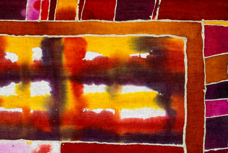 Cages, colorful abstraction, fragment, hot batik, background texture, handmade on cloth,  surrealism art