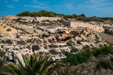 View to Victoria Lines, Malta