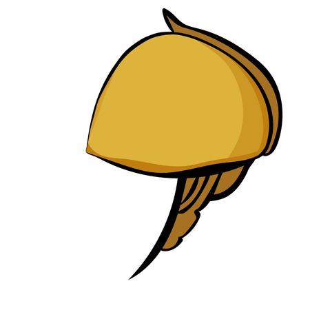 hoplite: Stylized antique Helmet Illustration