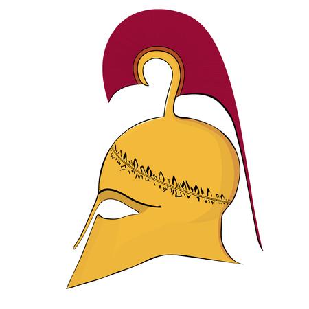 hoplite: Stylized Corinthian Helmet