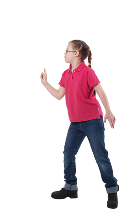 A girl with special needs in profile Stock Photo