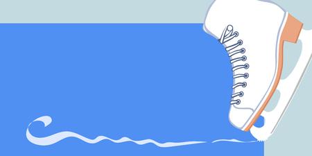 Ice Dance Skate, ice dance illustration in horizontal format Illustration
