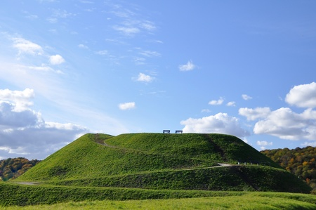 green, mound, hill, Stock Photo - 9624126