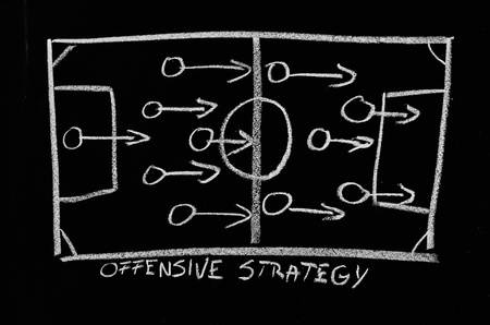tactics: offensive strategy on chalkboard