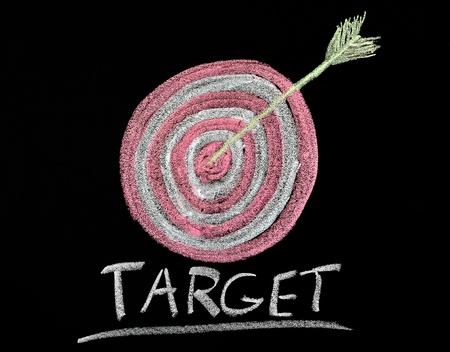 target on a chalkboard  photo