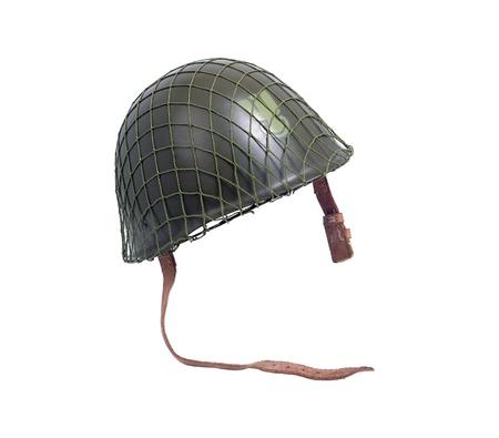 security helmet: military helmet from Polish army, isolated