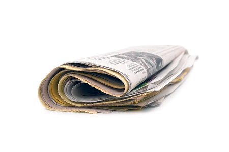 newspaper on a white background Stock Photo - 11928805