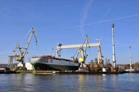 repaired: car carrier repaired at the shipyard