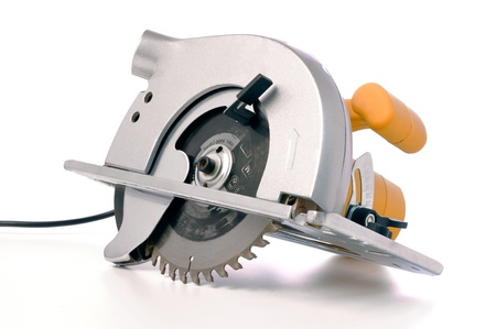 saws: circular electric saw isolated on white
