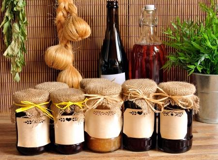 jam jar: jam in the glass jars concept indoor Stock Photo