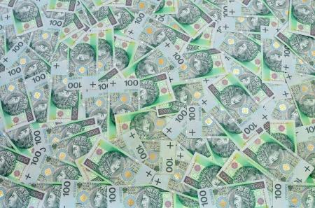 dosh: Polish zloty banknotes  of 100