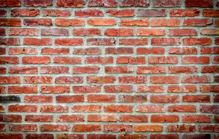 old brick wall background with vignette photo