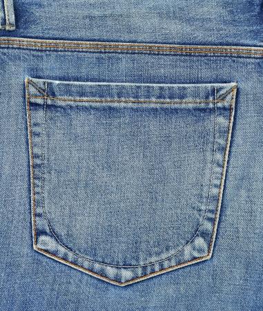 Empty back pocket of jeans